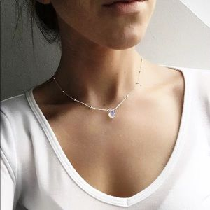 Jewelry - 4 for $25 moonstone waterdrop beaded necklace